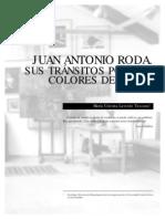 JUAN ANTONIO RODA-SUS TRÁNSITOS POR LOS COLORES DE LA LUZ
