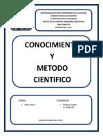 Conocimiento y Metodo Cientifico