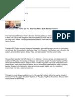 The Strauss Kahn Frame Up