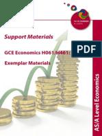 Econ 73365 Exemplar Material