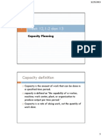 Week 12,1-2 Dan 13 Capacity Planning