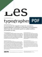 Font Minuscule Specimen