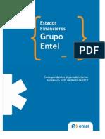 Estados Financieros Marzo 2013