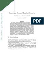 Concordant Chemical Reaction Networkls -Arxiv-shinar-feinberg