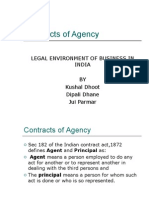 Agency Indian Contract Act 1872