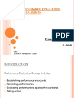 Performance Evaluation for SalesPerson