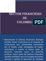 Diapositivas de Sector Financiero Colombiano