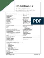 Review Notes - Fazl & Rowed Neurosurgery