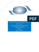 World Tourism Organization Survey of Destination Management Organizations - Report 2004