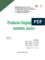 Productos Limpiadores, Sustratos y Sucios