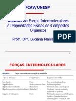 Forcas Intermoleculares e Propriedades Fisicas