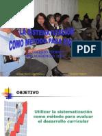 Taller La Sistematizacion Como Metodo Evaluativo 2