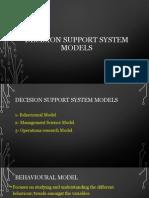 Decision Support System Models