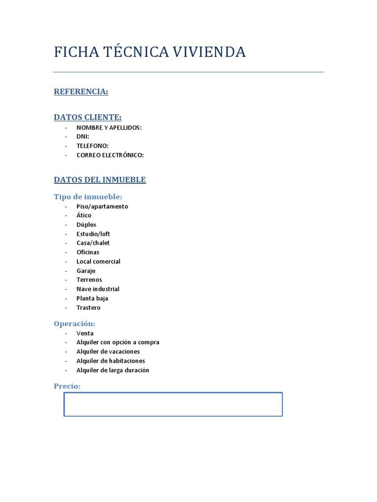 Modelo ficha tecnica inmobiliaria - Ejemplo certificado energetico piso ...