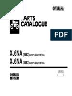 Yamaha XJ6-NA (Naked) [2010] Parts Catalogue