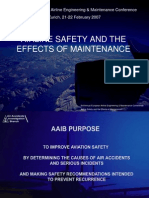 Airline Safety and Effects of Maintainence Alan Simmons