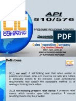 API RP-576 Inspection of Pressure-relieving Devices
