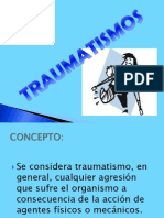 TRAUMATISMO. .