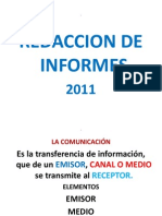 Redaccion de Informes 2011