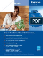 Buderus GB125BE High Efficiency Modulating Oil Boiler Brochure