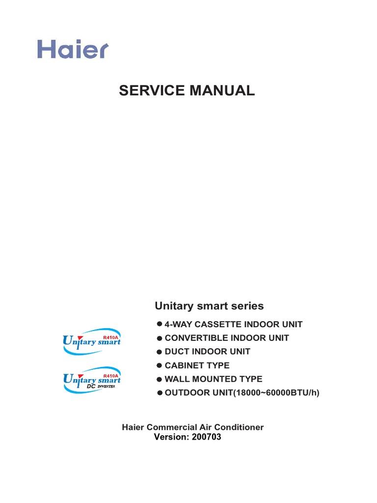 service manual haier air conditioning hvac rh scribd com haier 5000 btu air conditioner owner's manual owners manual for haier room air conditioner