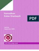 Ramadhan bulan Shadaqoh