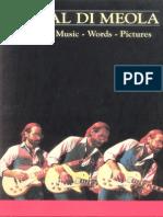 132055760 Book Al Di Meola Music Words Pictures Guitar Bass