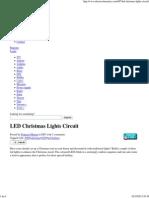 christmas led lights circuit light emitting diode capacitorled christmas lights circuit