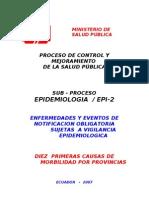 Diez Principales Causas de Morbilidad Ecuador a%F1o 2007