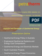 Geothermal Energy in Australia - An Overview