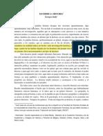 Georges Duby - Escribir La Historia