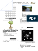1ª P.D - 2014 - (3º Ano E.F - Ciências)- (Blog do Prof. Warles)