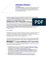 Definiciones - Community Manager