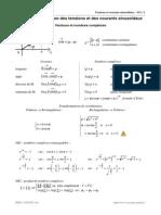A11. Représentation des tensions et des courants sinusoïdaux