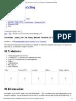 Encender Luces Led Con Java y Puerto Paralelo LPT1 _ Estebanfuentealba's Blog