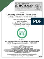Vision Zero Town Hall Flier