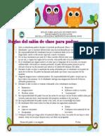 Classroom Rules Para Padres Buho