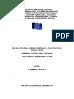 DEL MALEFICIO DE LA HIPERINFORMACIÓN A LA QUIJOTIZACIÓN DE SANCHO PANZA