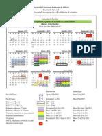 Calendario 2012-2013 UNAM
