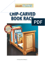 Chip Carved Book Rack