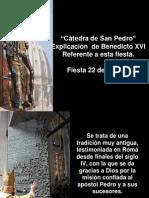 Catedra de San Pedro. 22 Febrero