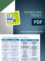 Vocabulario Técnico