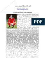 """""""Ensayos sobre Fútbol y Filosofía"""" por Nicolás González Varela"""
