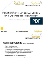 Transitioning to MX SELECTSeries 3 