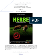 Attac56 propose une soirée film et débat avec le film Herbe