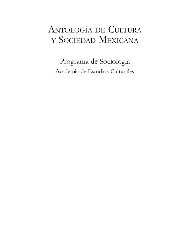Antología de Cultura y Sociedad Mexicana