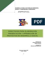 Directriz-Formato Proyectos Social