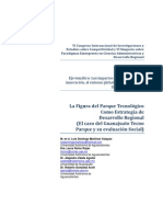 La Figura del Parque Tecnológico como Estrategia de Desarrollo Regional