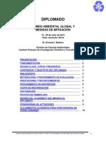 2013 - Cambio Ambiental Global y Medidas de Mitigacion