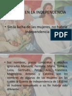 Mujeres Independenciapresentacion